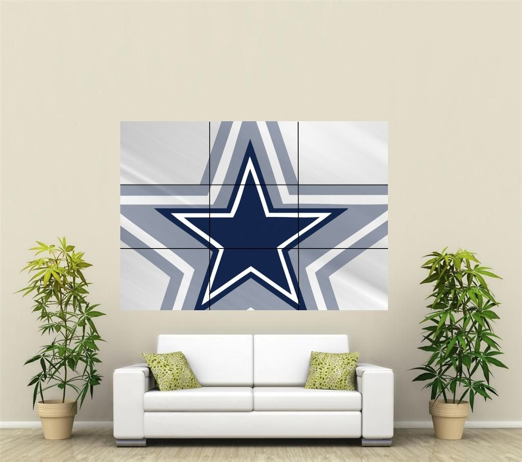 Dallas Cowboys Giant Wall Art Poster NFL111 | eBay | Home decor ...