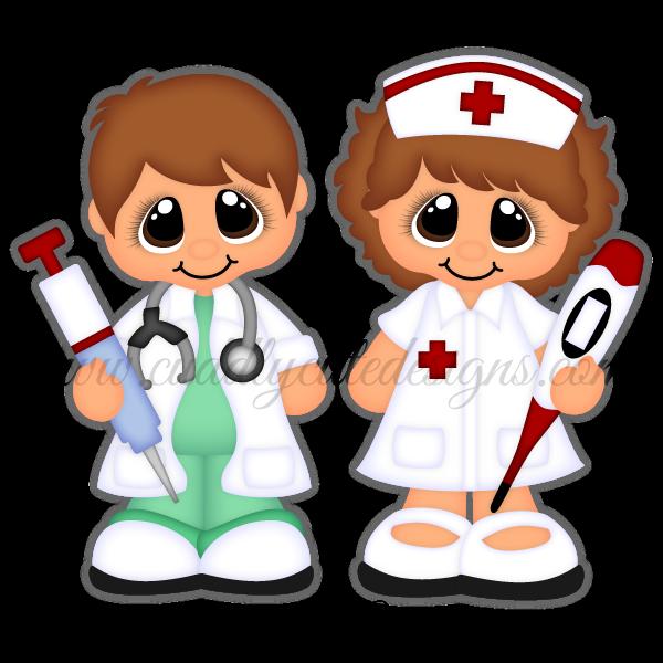 foto de Career Cuties Doctor/Nurse Moldes de niños Enfermero