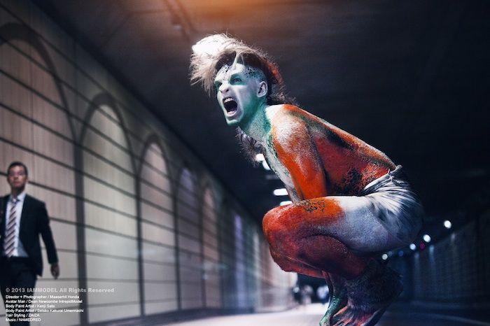 Avatar Man runs amok in Omotesando for stylishly primitive fun | PingMag : Art, Design, Life – from Japan