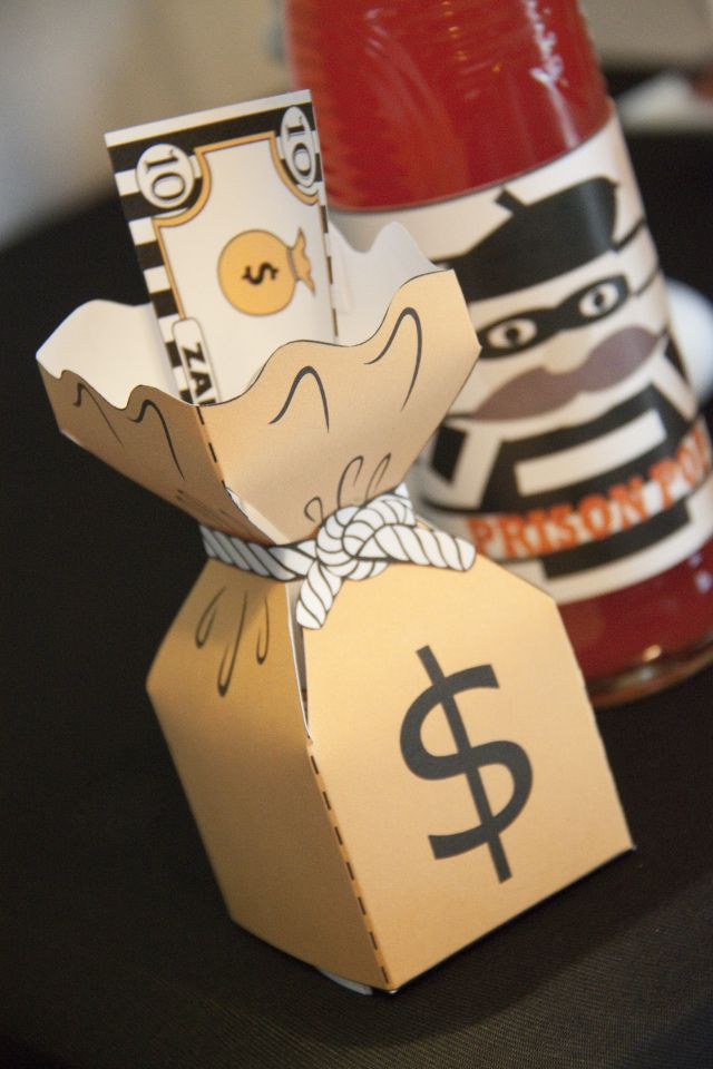 Robbers Money Bag Favor Bo Cops And Party By Sparkling Sweets Boutique 19