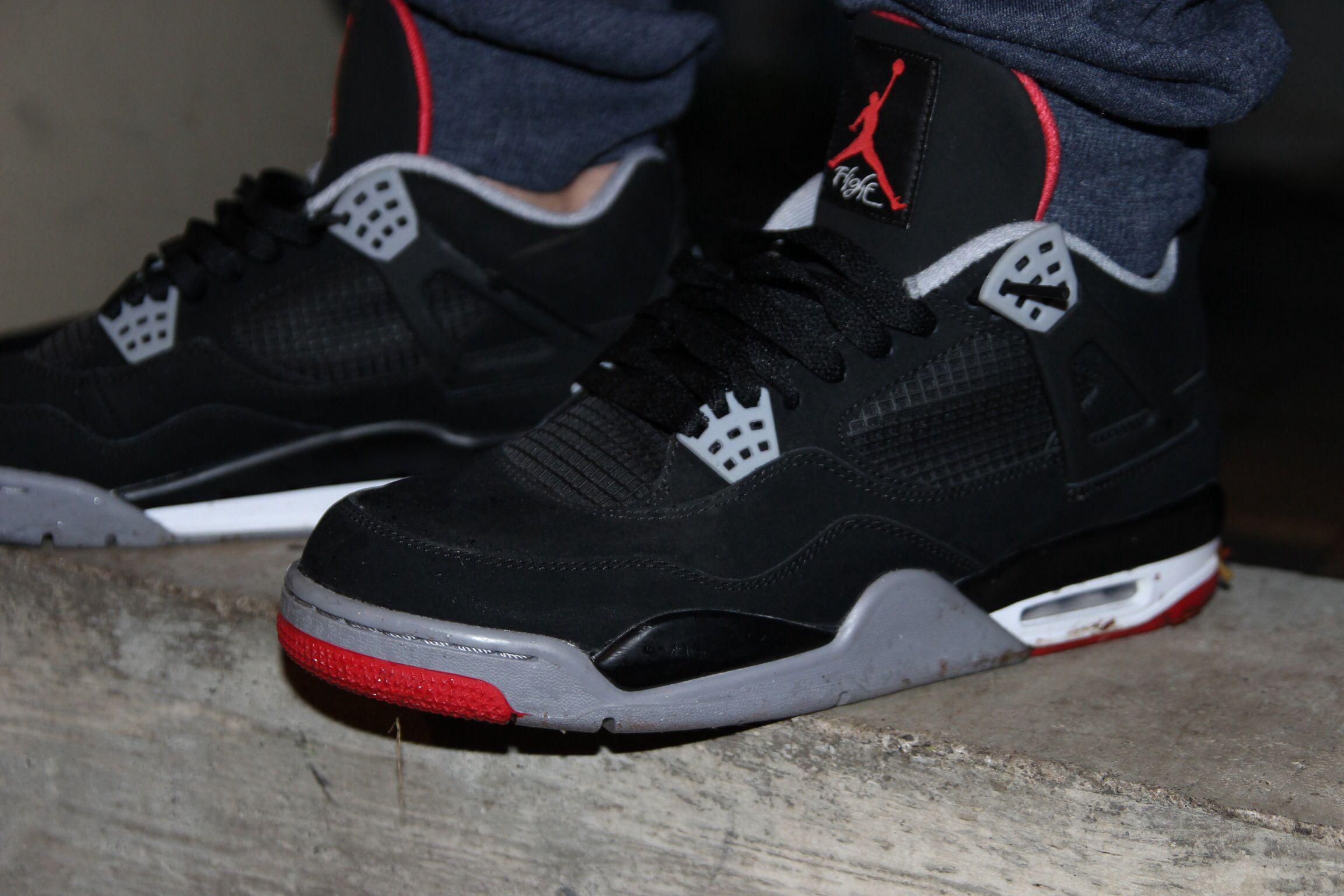 best sneakers 47343 f1d65 Bred 4s   sneakerz   Sneakers, Sneakers nike, Jordans sneakers