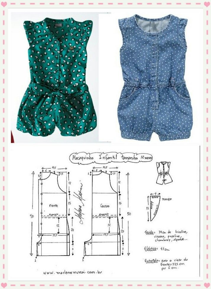 entero niña talla 12 … | COSTURA | Pinterest | Sewing, Baby and Baby ...