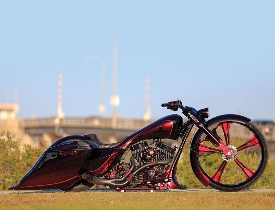King Red Rocket Custom Baggers Bagger Bagger Motorcycle