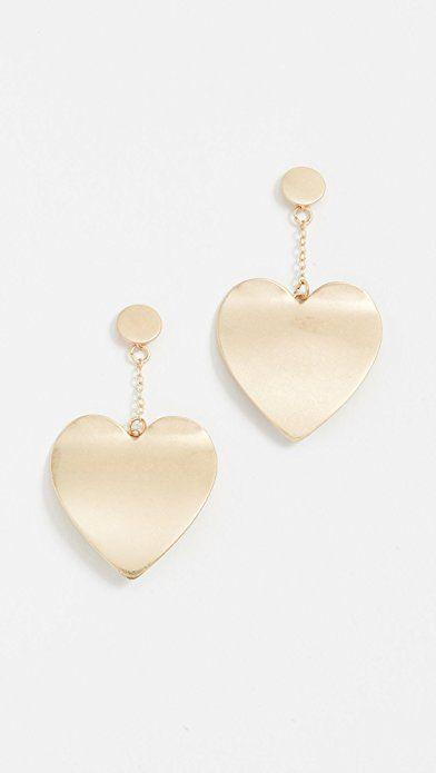 Rebecca Minkoff Sadie Heart Drop Earrings YZE8c