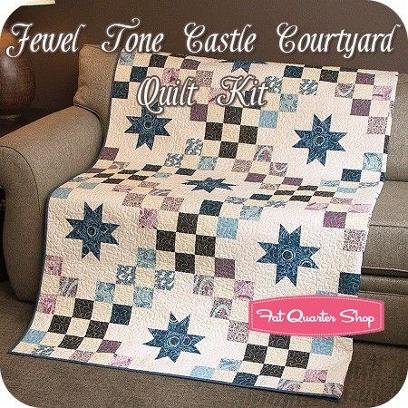 Jewel Tone Castle Courtyard Quilt Kit<br/>Featuring Downton Abbey ... : downton abbey quilt kits - Adamdwight.com