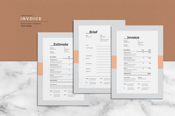 Brief - Estimation - Invoice @creativework247 Templates
