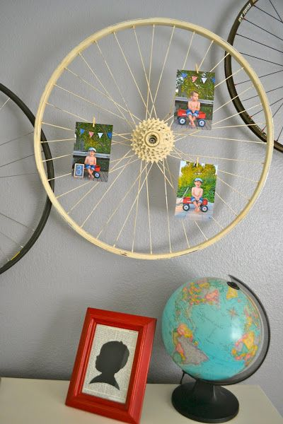 Bicycle Wheel Art Picture Display This Gives Me An Idea