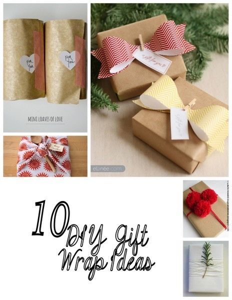 10 DIY Gift Wrap Ideas Wraps, Gift and Wrapping ideas