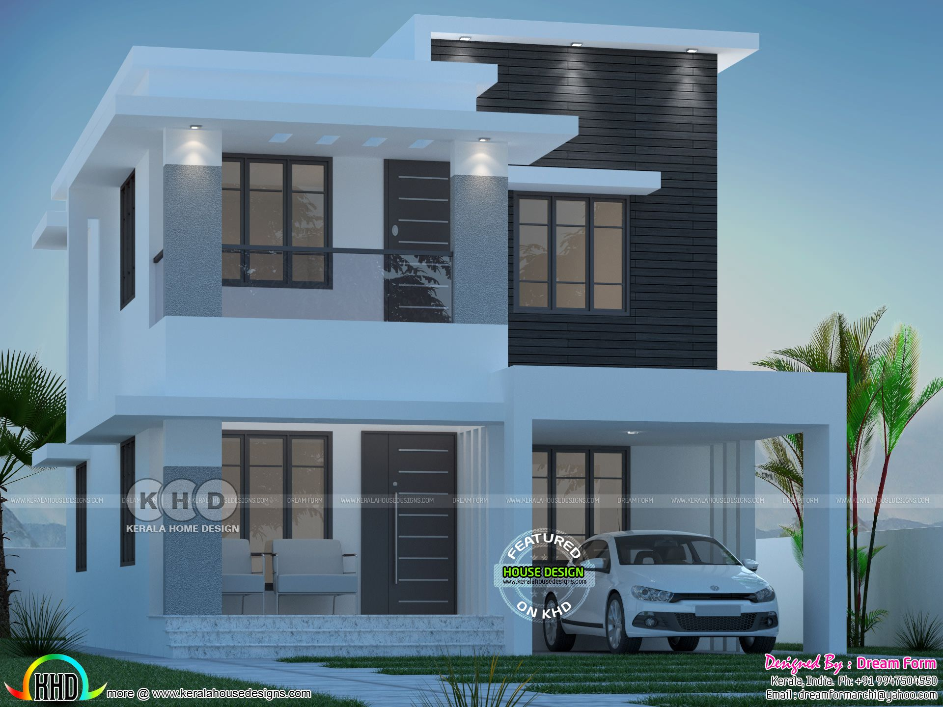 4 bedroom 1835 sq.ft modern home design   Modern house ...