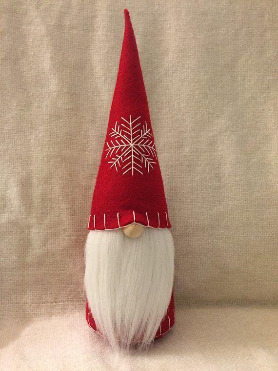 Christmas Gnome Swedish Tomte Nisse Felt Doll LARGE ...