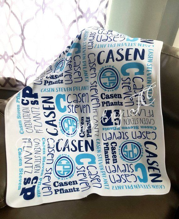 7f7c80612 Personalized Baby Blanket option matching pillow cover | baby blanket, new  born, baby shower gift, p