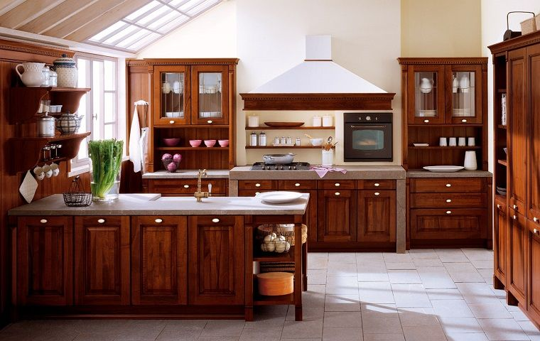 Cucine Arte Povera Top Chiaro Wood Kitchen Cabinets Interior