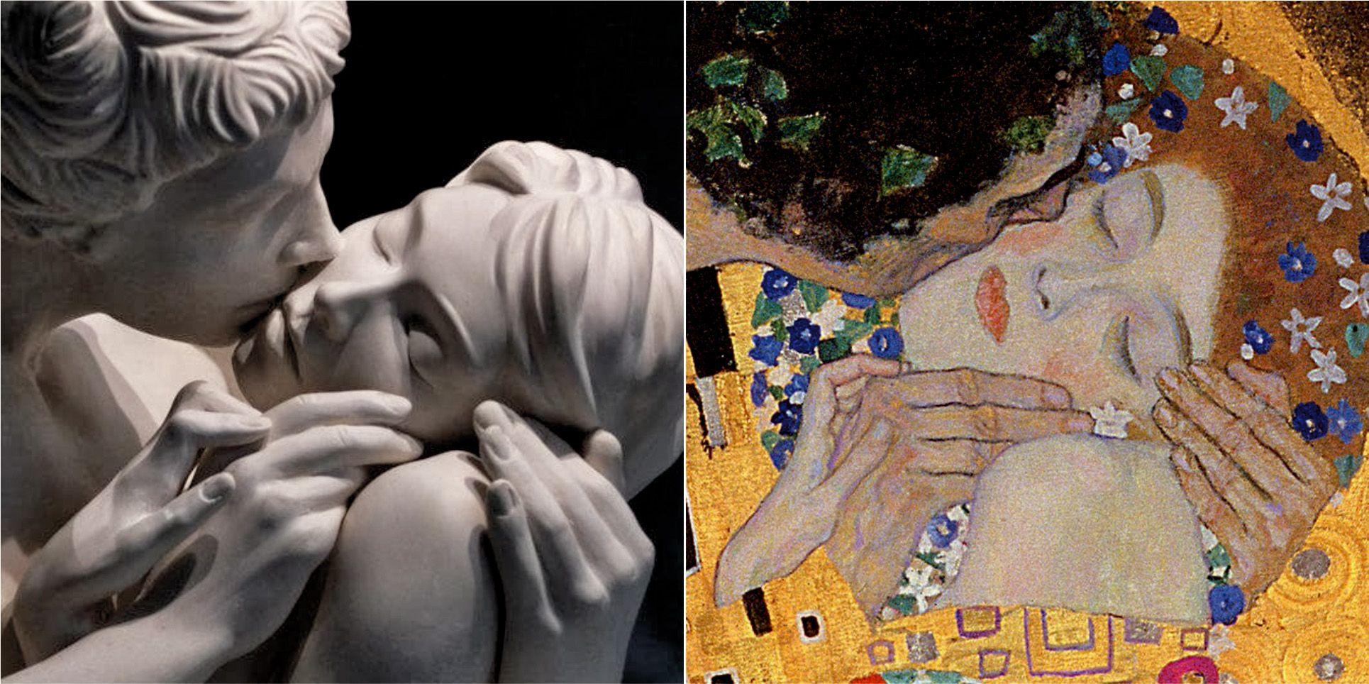 El beso de Yves Pires (izq.) - El beso de Klimt. (detalles). Adoro ...