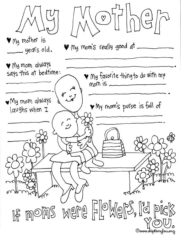 30 Free Mother S Day Prints Mothers Day Coloring Pages Mother S