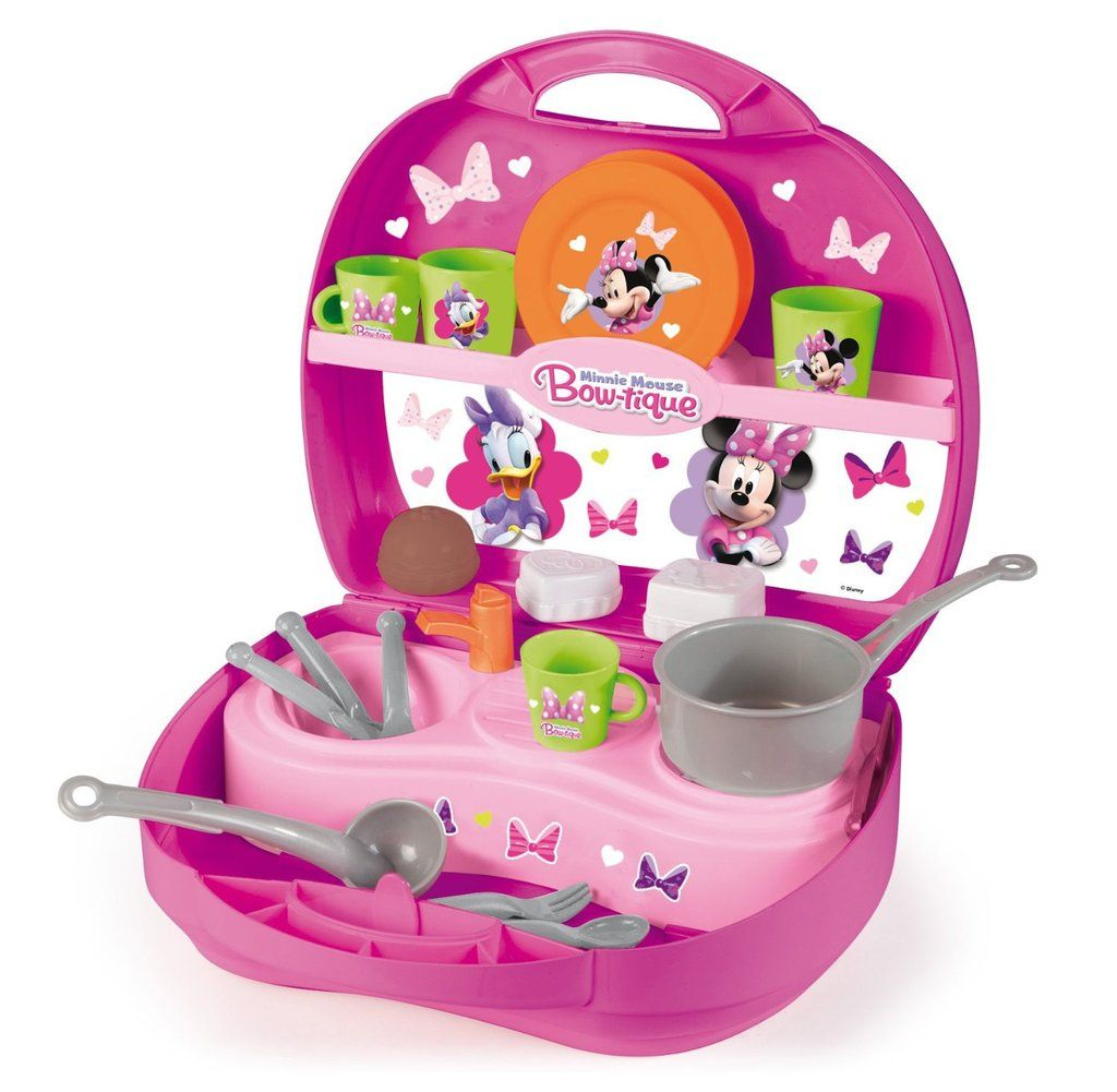 Simba Smoby Minnie Mouse Bowtique Mini Kitchen Playset Toy | Mini ...
