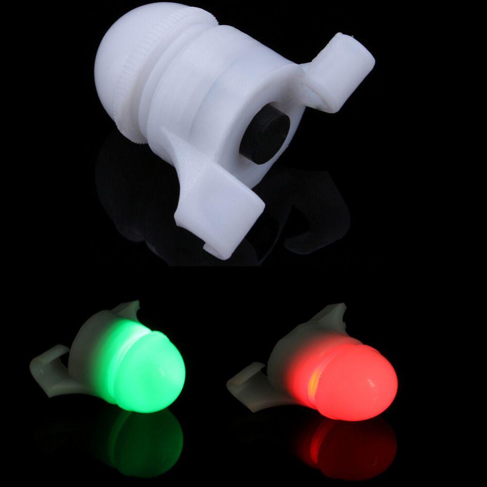 2 in1 LED Night Fishing Rod Tip Clip on Fish Strike Bite Alert Alarm Light.