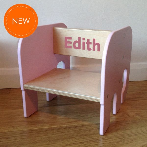 Enjoyable Personalise Any Chair With A Childs Name Elephant Toddler Pdpeps Interior Chair Design Pdpepsorg