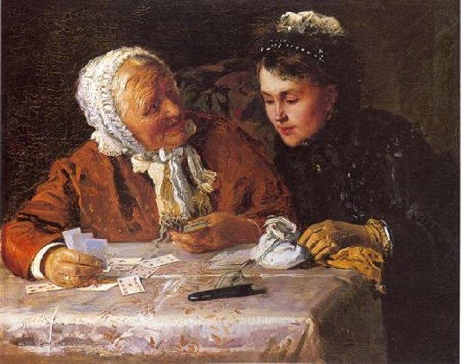 Константин Маковский (1839-1915)Гадалка. Konstantin Makovskiy -Fortune-teller,1882
