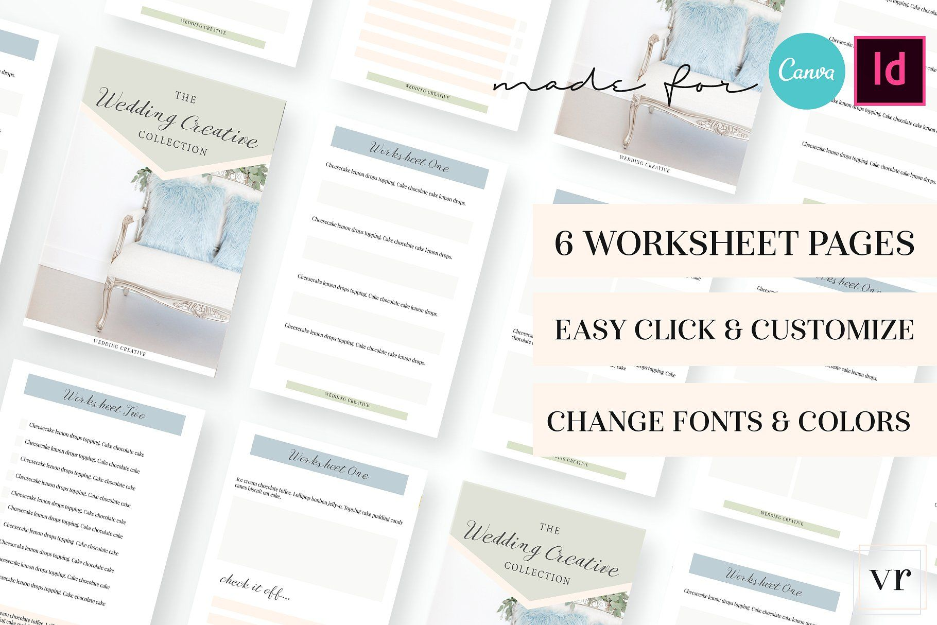 Photographer Wedding Worksheet Canva Styles Worksheets