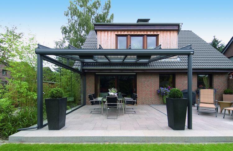 Faites Un Toit En Verre Pour Votre Terrasse Moderne Exemple