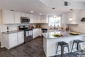 Pauline Gray Granite Kitchen And White