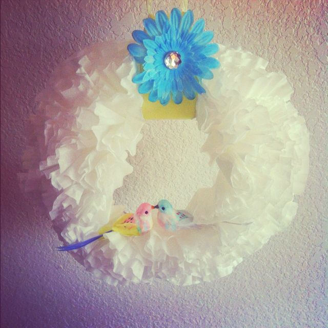My coffee filter wreath turned out pretty legit.