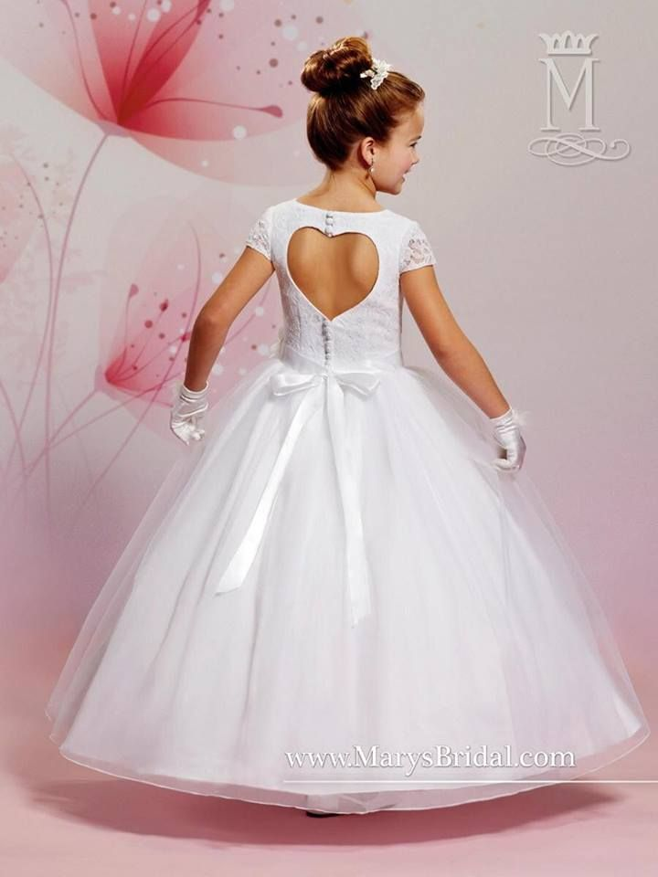 Flower girl dress featuring the heart cutout on the back‬