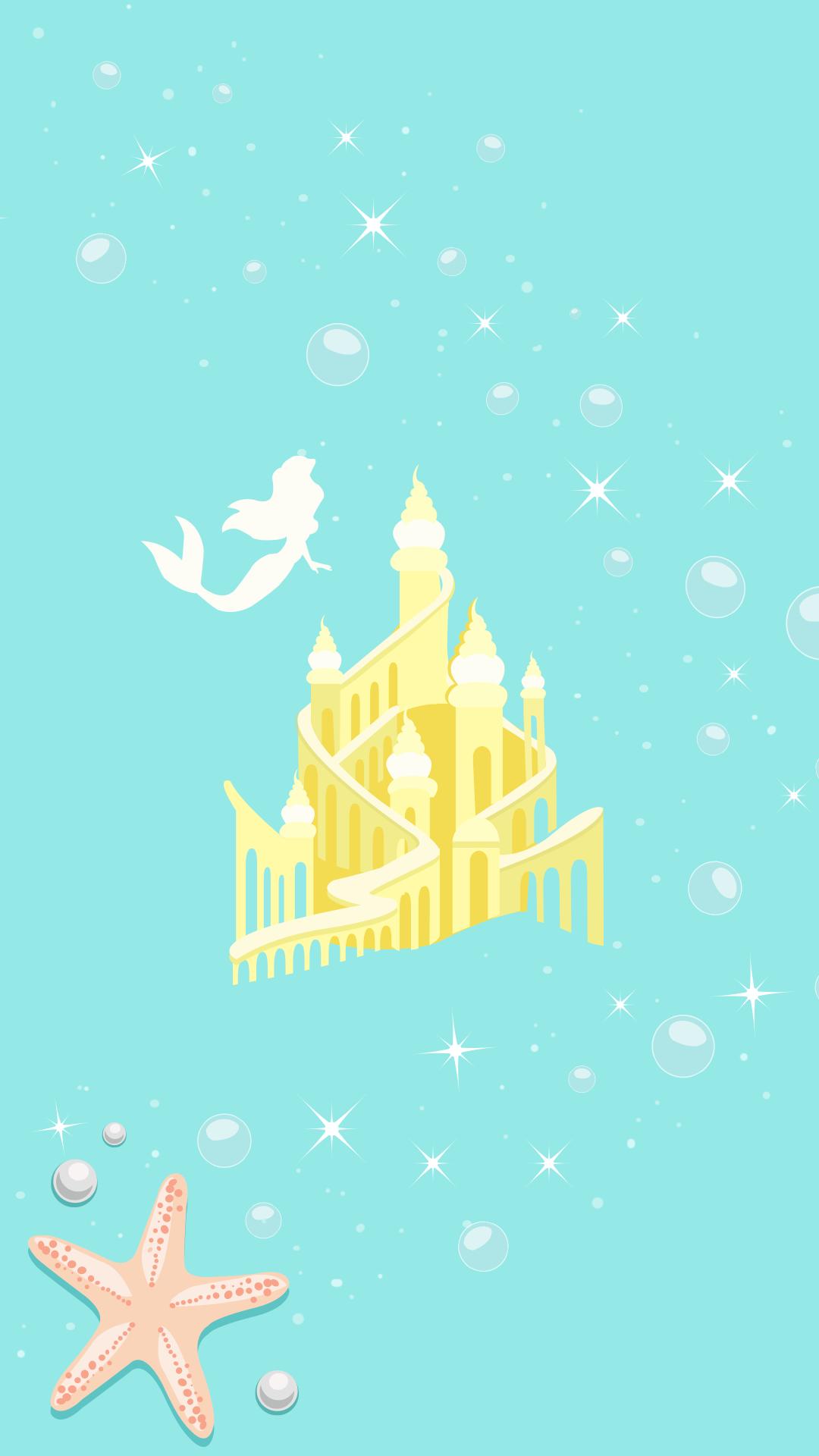 Wallpaper iphone rapunzel - Iphone La Petite Sirene Little Mermaid Ariel Wallpaper Crecre Fond D Cran