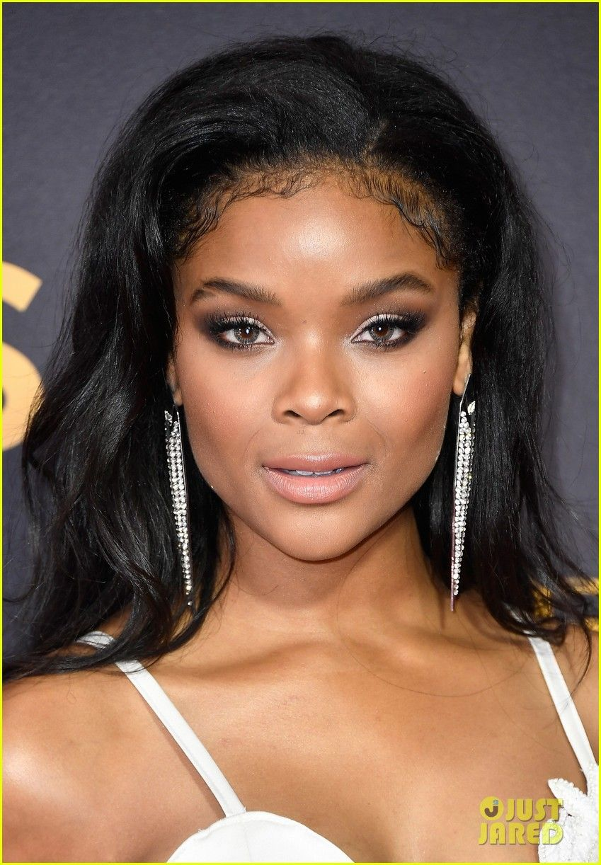 13 Reasons Why Star Ajiona Alexus Wows In White Jumpsuit At Emmy