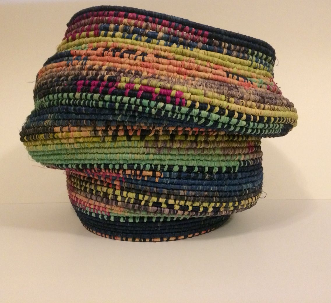 Cooked Raffia Basket Corey Bishop Coiled Fabric Basket Fiber Art Quilts Fabric Baskets