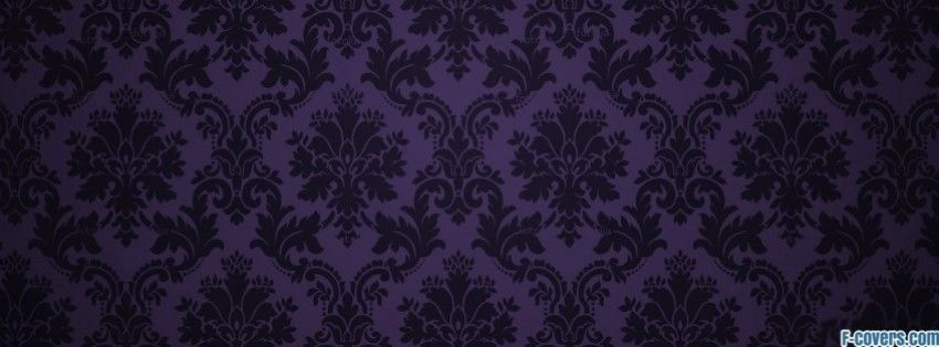 purple and black damask pattern facebook cover Cover photos