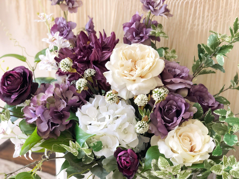 Farmhouse style floral arrangement large floral