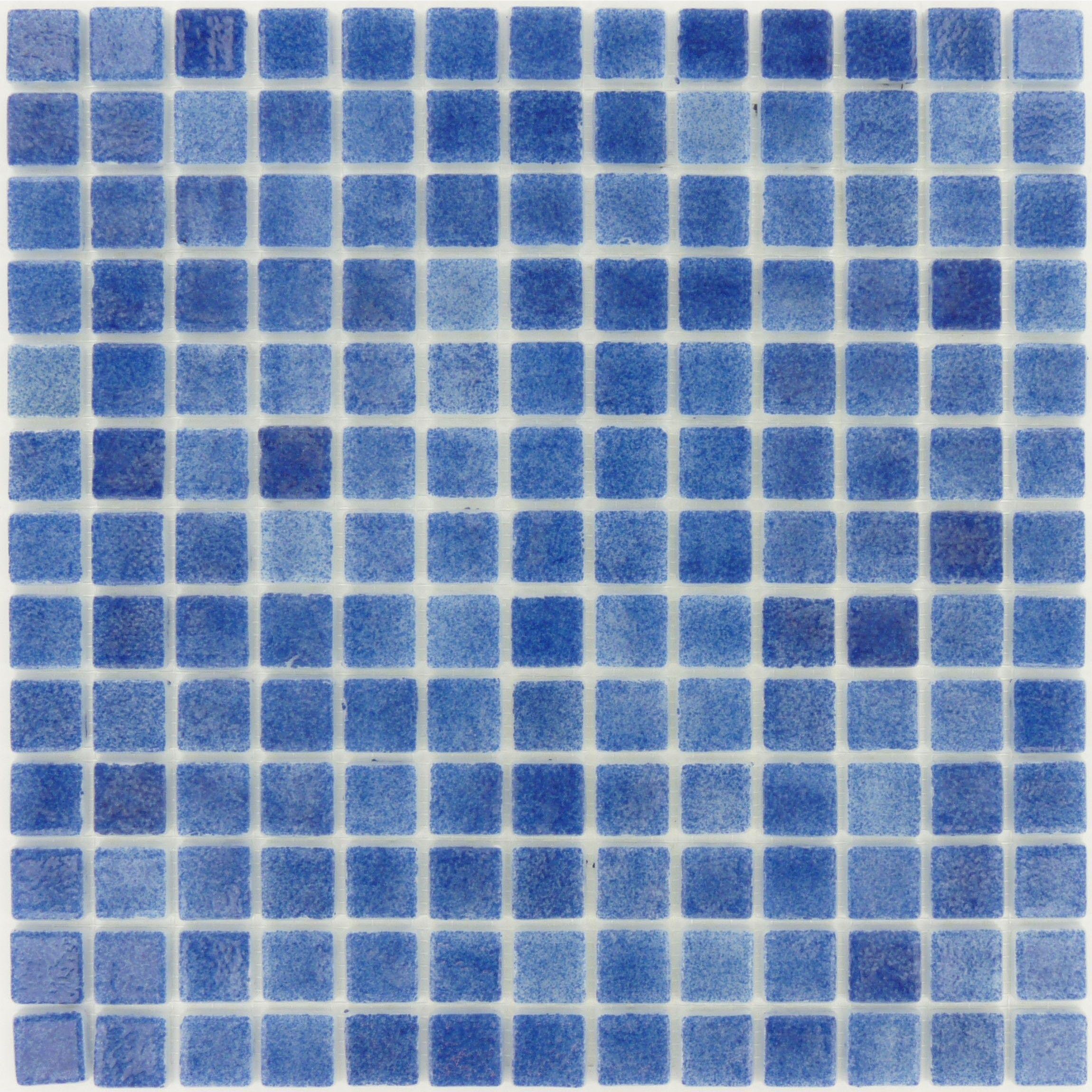 Azul Blue 7/8\'\' x 7/8\'\' Glass Glossy Tile   Glass design, Kitchen ...