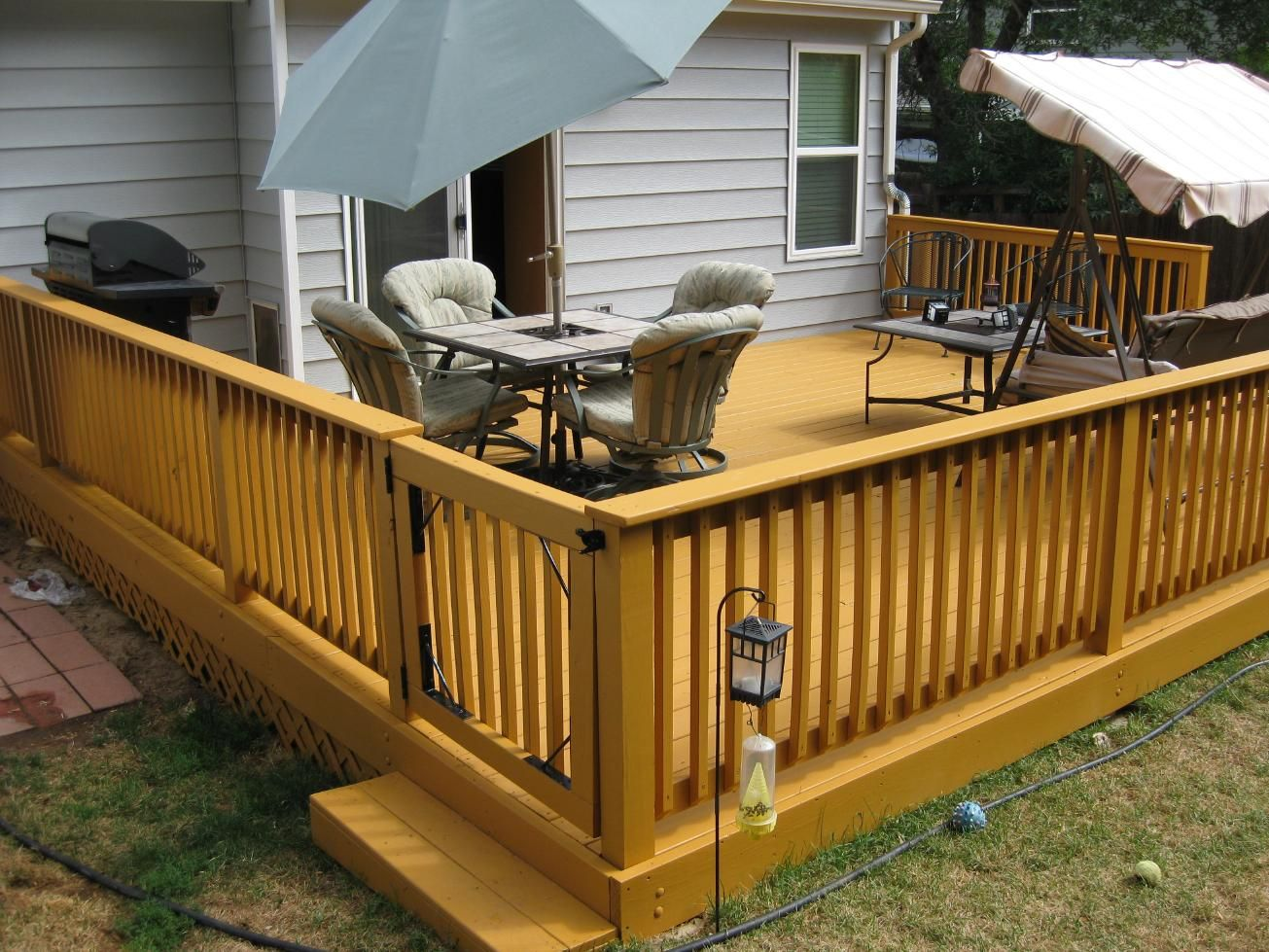 deck designs custom treated deck design take a walk down briar street - Home Deck Design