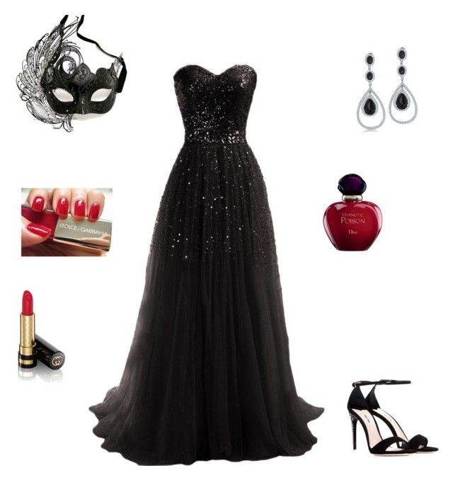 """Dark Masquerade"" by lover-of-laughter ❤ liked on Polyvore featuring Masquerade, Bling Jewelry, Dolce&Gabbana, Gucci, Miu Miu and Christian Dior"