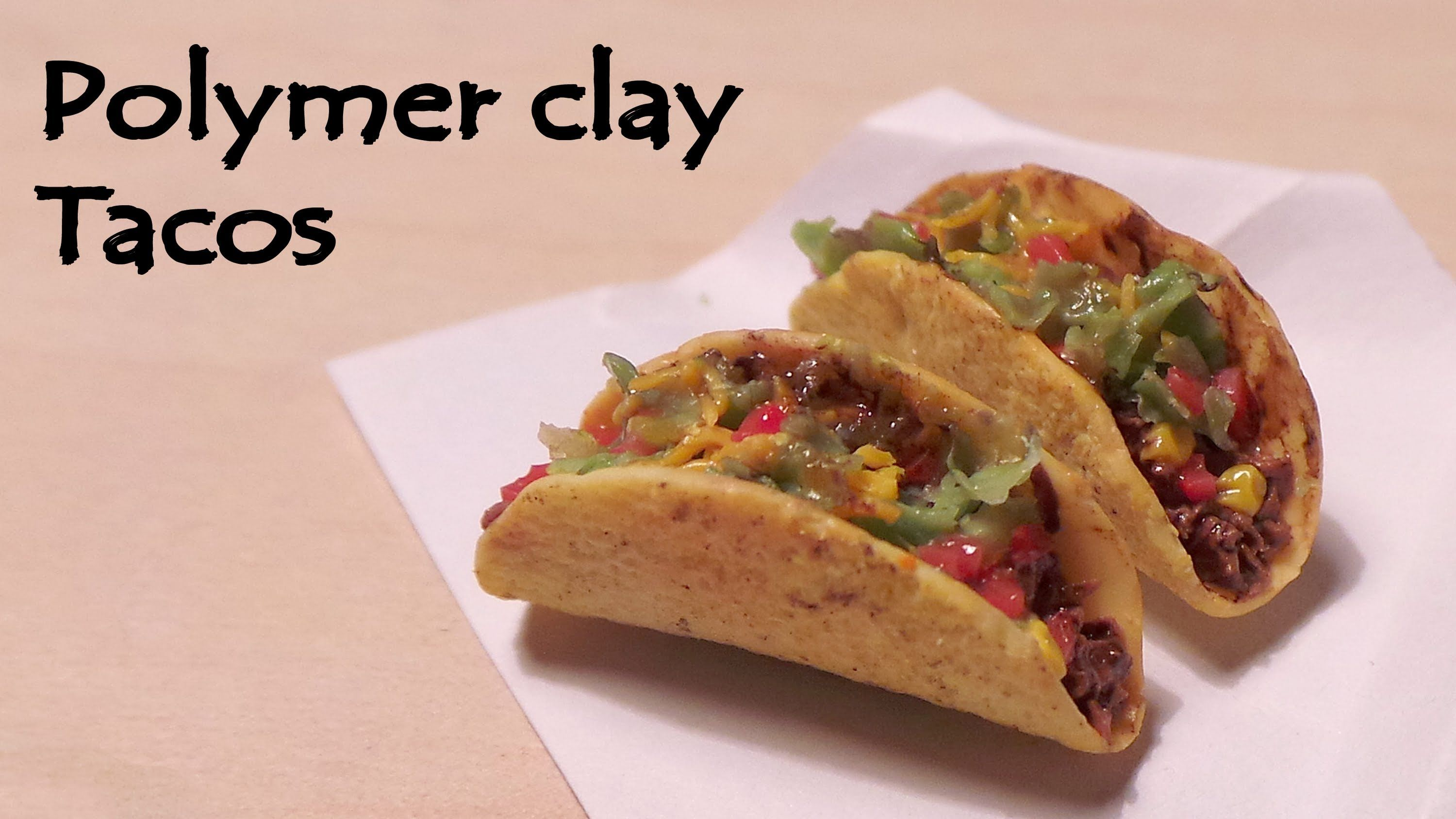 Realistic polymer clay food tutorial for Polymere cuisine