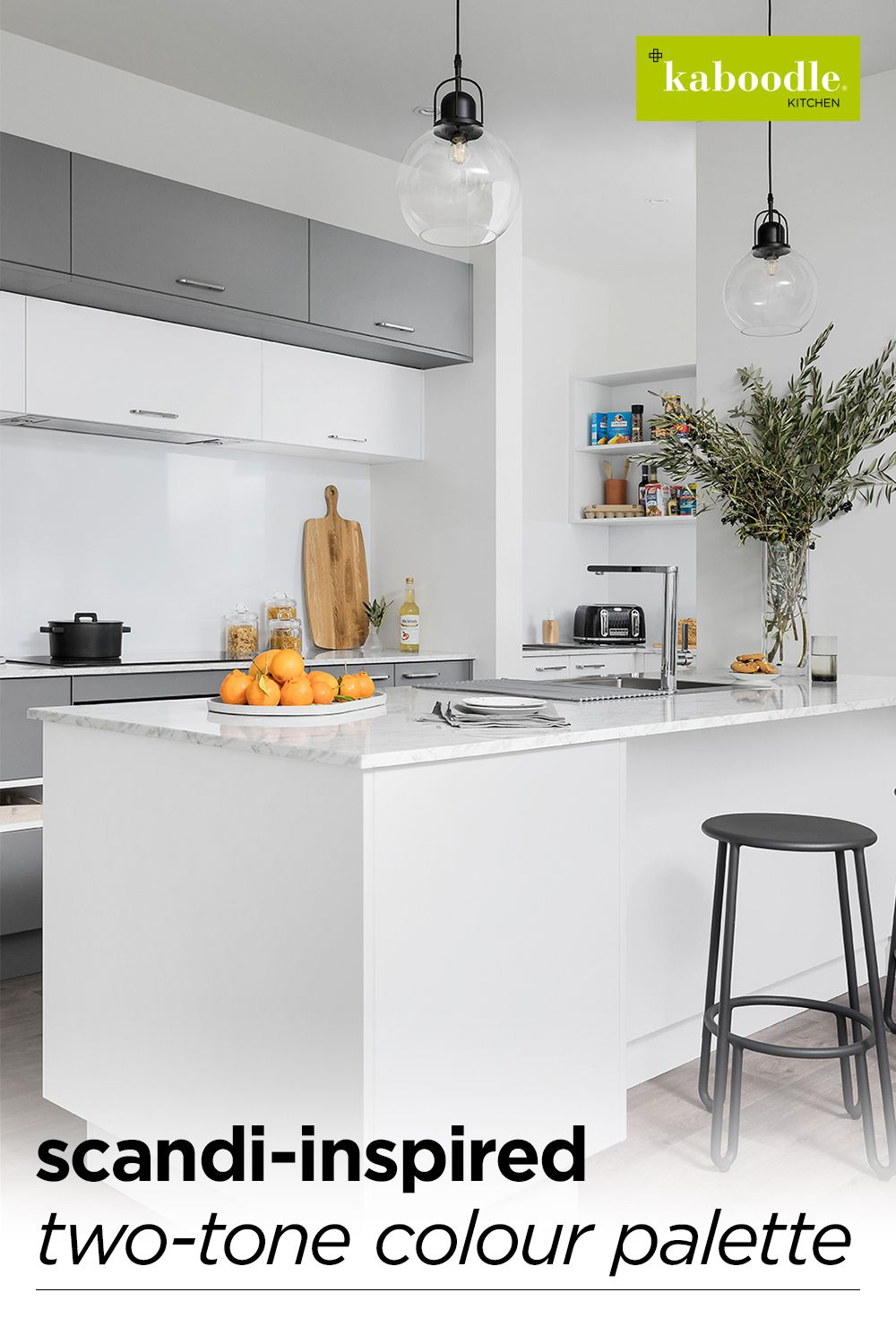 scandi inspired two tone colour pallette in 2020 kitchen design small kitchen room design on kaboodle kitchen navy id=34705