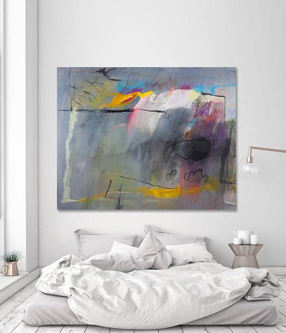 Extra Large abstrait peinture art abstrait coloré moderne peinture