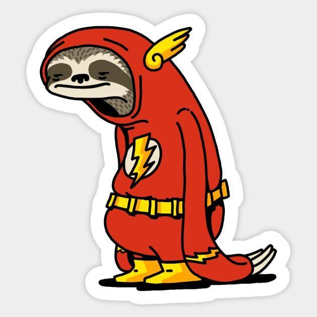 Best Funny Imagenes Sloth Flash Funny Decal Sticker – Custom Sticker Shop 2