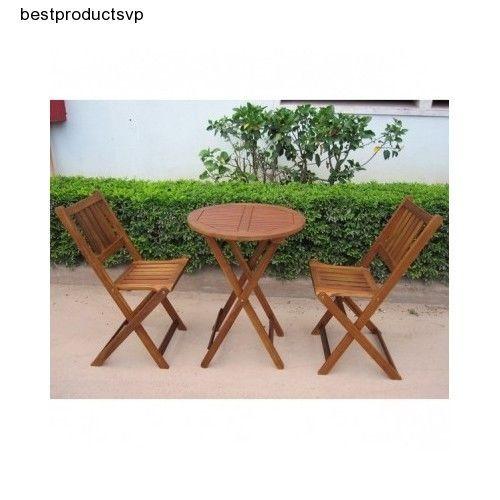 Enjoyable Ebay Folding Bistro Set 3 Piece Outdoor Wood Bralicious Painted Fabric Chair Ideas Braliciousco