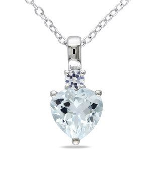 Love this white sapphire aquamarine heart pendant necklace by delmar love this white sapphire aquamarine heart pendant necklace by delmar on zulily zulilyfinds aloadofball Gallery