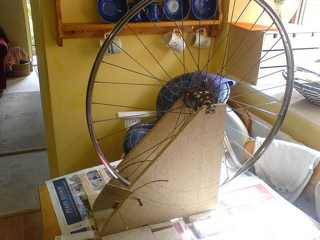 My Homemade Wheel Truing Stand Bicycle Maintenance Bike Repair