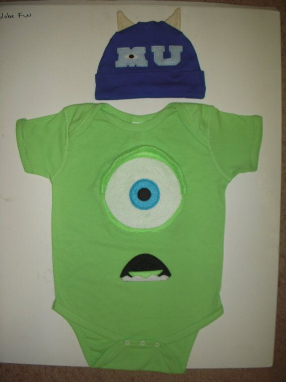 MIKE WAZOWSKI - Onesie   Beanie Hat Set - Inspired by Monsters University 5efdfd237913