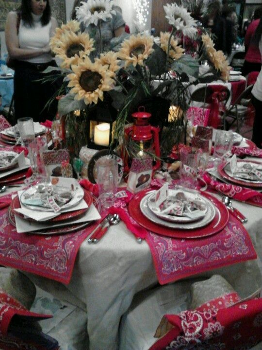 Pinterest Christmas Tablescapes Cowboy Christmas