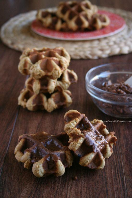 molasses waffle cookies