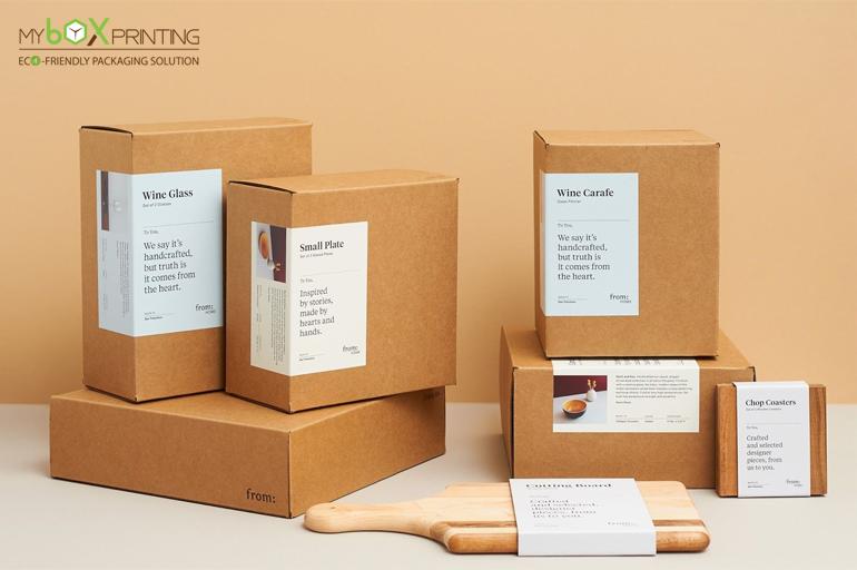 Kraft Packaging Boxes In 2020 Creative Packaging Design Kraft Packaging Custom Printed Boxes