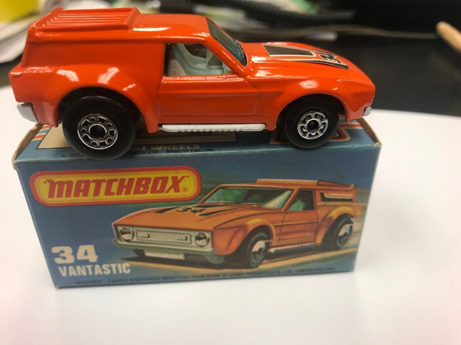 MATCHBOX LESNEY SUPERFAST 1975 34 VANTASTIC MADE IN