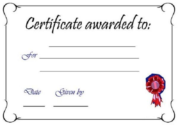 Blank Certificate Templates Kiddo Shelter Blank Certificate