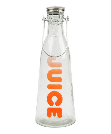 Take a look at this Present Time Orange 40-Oz. 'Juice' Glass Bottle by Colorful Kitchen Collection on #zulily today!
