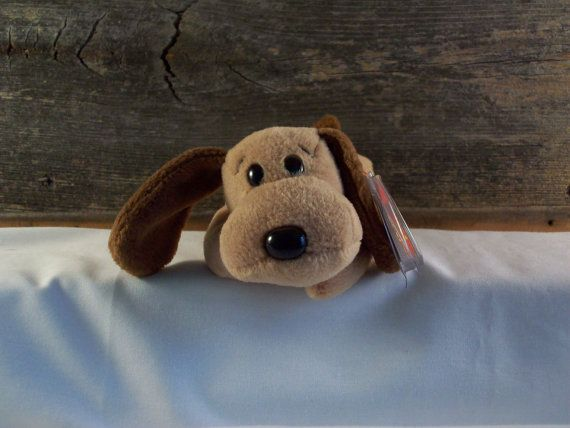 Ty Beanie Baby Original Bones the Dog 1994 by TheBluePig on Etsy
